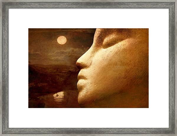 Moonface Framed Print