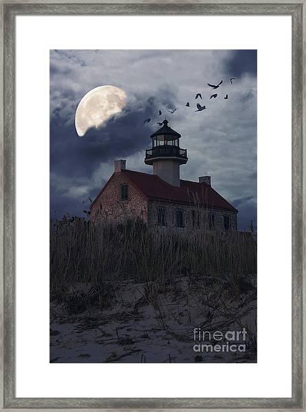 Moonlight At East Point Framed Print