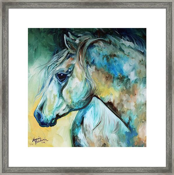 Moonlight Aura Equine Framed Print