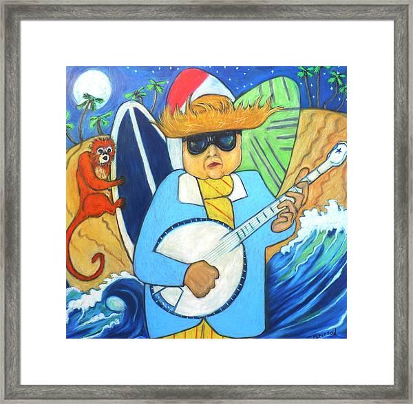 Moonlight Banjo Surfmonkey Framed Print