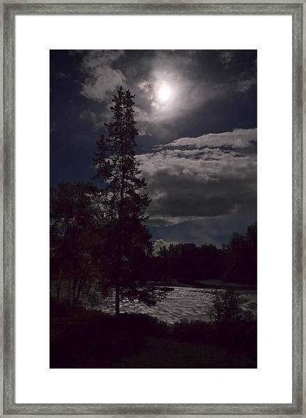 Moonlight On The River Framed Print