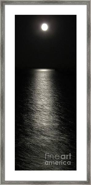 Moonlight Reflection Framed Print