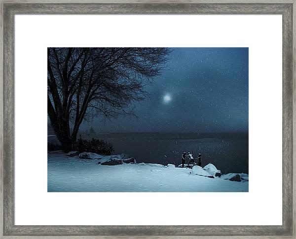Moonlight Romp Framed Print