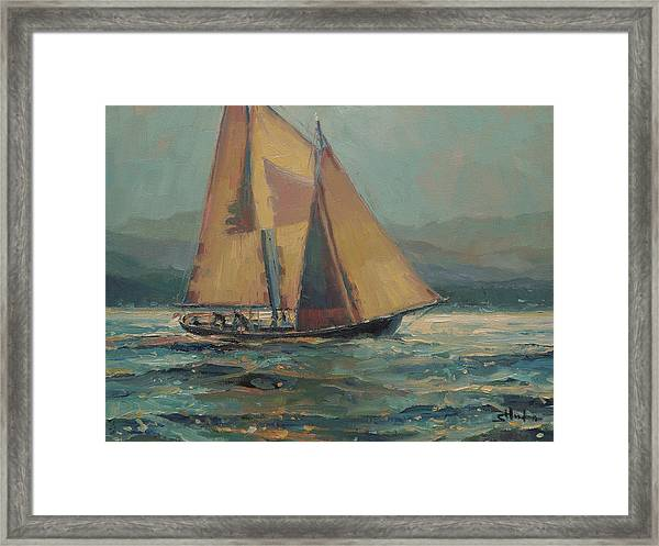 Moonlight Sail Framed Print