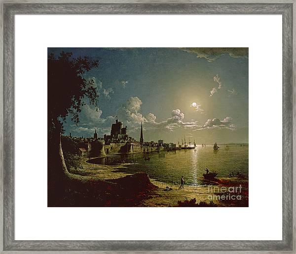 Moonlight Scene Framed Print