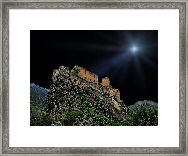 Moonlit Castle Framed Print