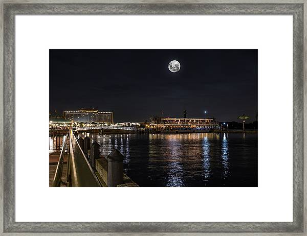Moonlit Disney Contemporary Resort Framed Print