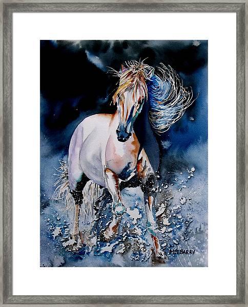 Moonlit Gallop Framed Print