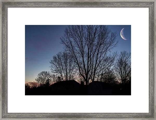Moonlit Sunrise Framed Print