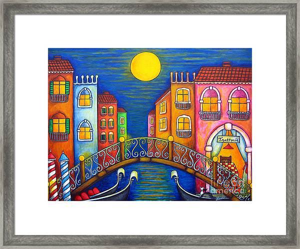 Moonlit Venice Framed Print