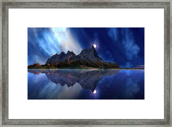 Moonrise Accension Island. Framed Print by David Jackson