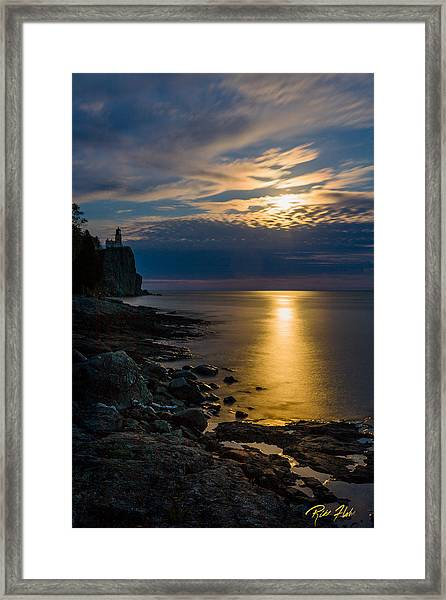 Moonrise From The Cloudbank Framed Print