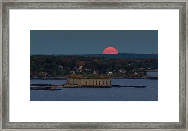 Moonrise Over Ft. Gorges Framed Print