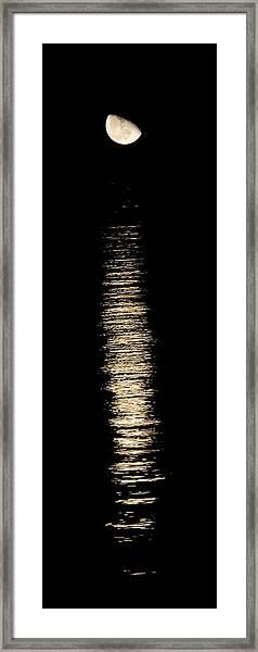 Moonrise Over Monroe Harbor Chicago 0158 Framed Print