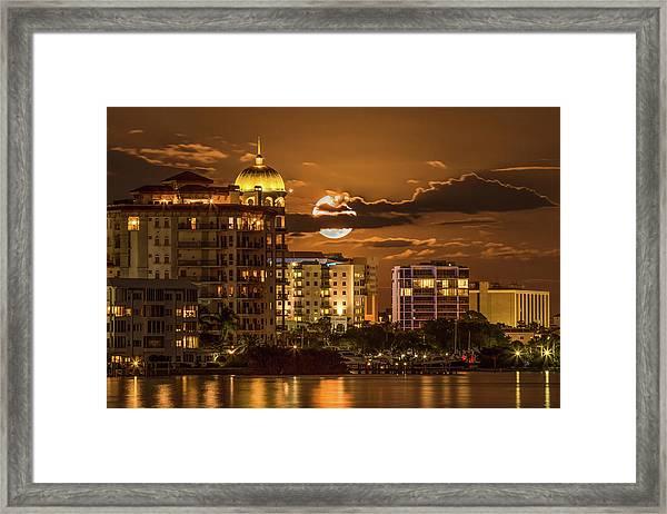 Moonrise Over Sarasota Framed Print