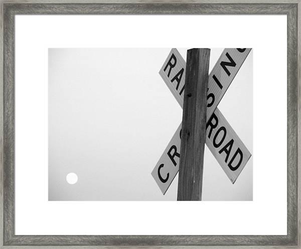 Moonshine Crossing Framed Print