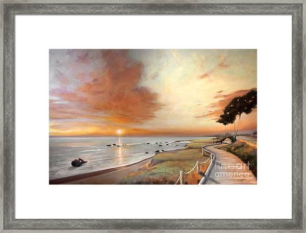 Moonstone Cambria Sunset Framed Print