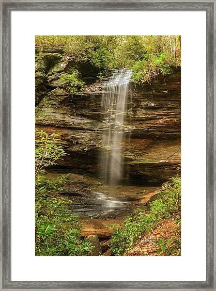 Moore Cove Falls Framed Print