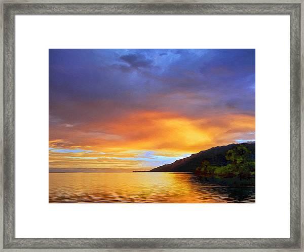 Mo'orea Sunrise Framed Print