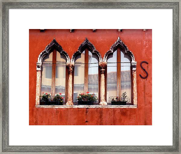 Moorish Window Framed Print