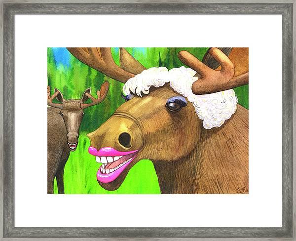 Moose Lips Framed Print