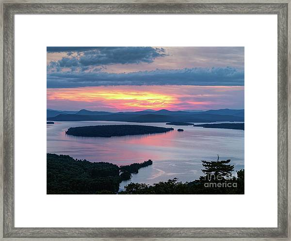 Mooselookmeguntic Lake In The Last Light Of Day - Rangeley Me  -63430 Framed Print