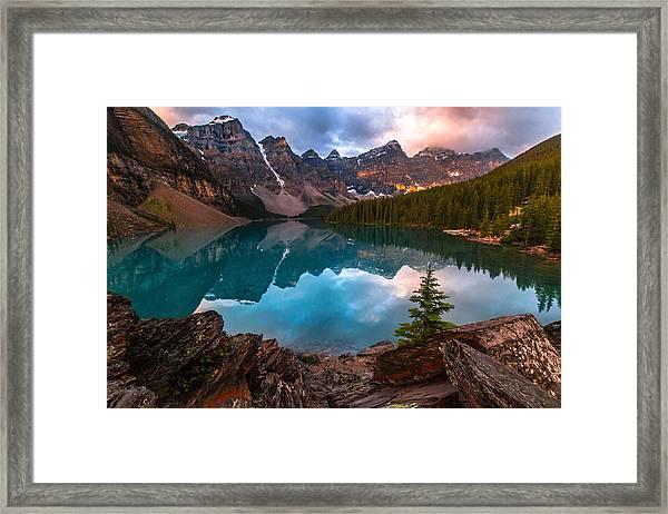Moraine Mornings  Framed Print