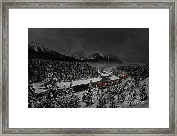 Morant's Curve At Night Framed Print
