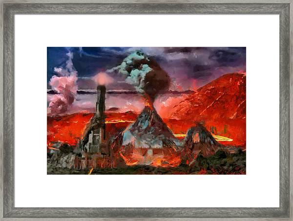 Mordor Panorama Framed Print