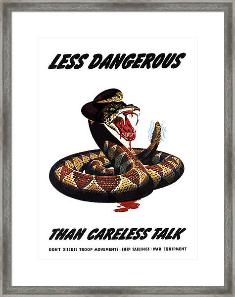 More Dangerous Than A Rattlesnake - Ww2 Framed Print