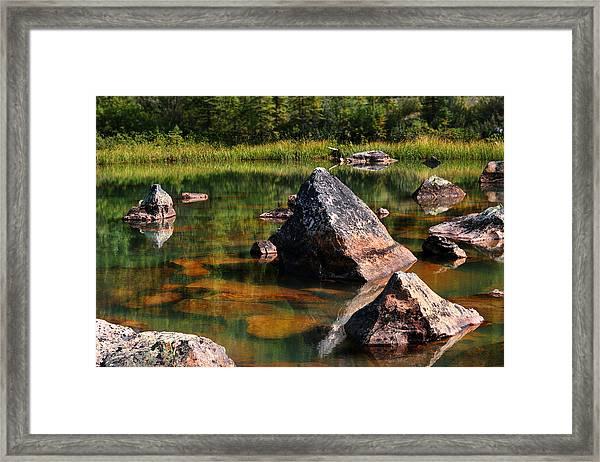 More Pink Rocks Framed Print