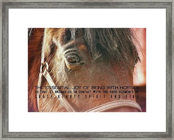 Morgan Horse Quote Framed Print