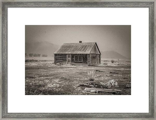 Mormon Row Grand Teton National Park  Framed Print