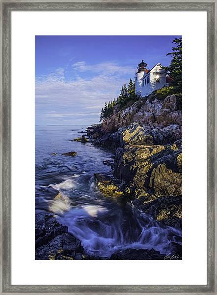 Morning At Bass Harbor Lighthouse Framed Print