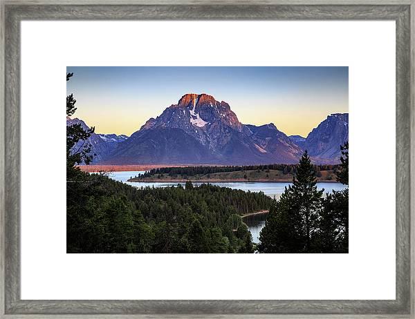 Morning At Mt. Moran Framed Print