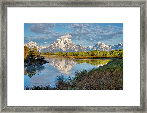 Morning At Oxbow Bend Framed Print