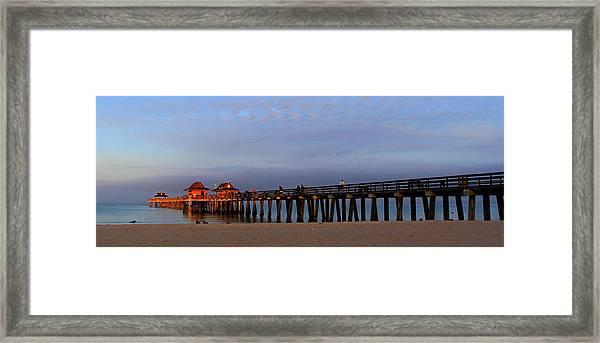 Morning At The Naples Pier Framed Print