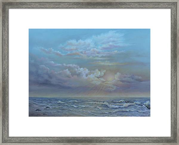 Morning At The Ocean Framed Print