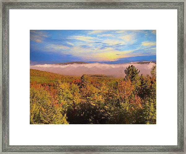 Morning Autumn Landscape Northern New Hampshire Framed Print