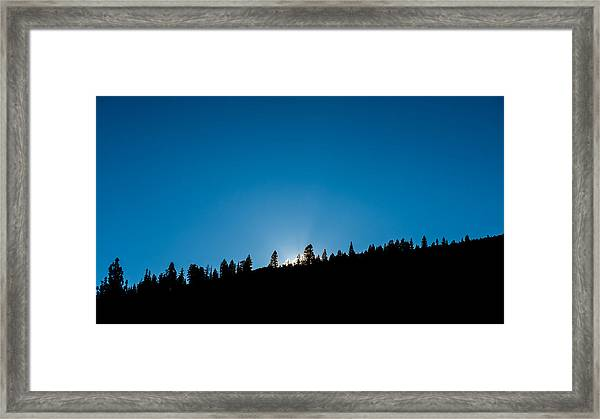 Morning Breaks Framed Print