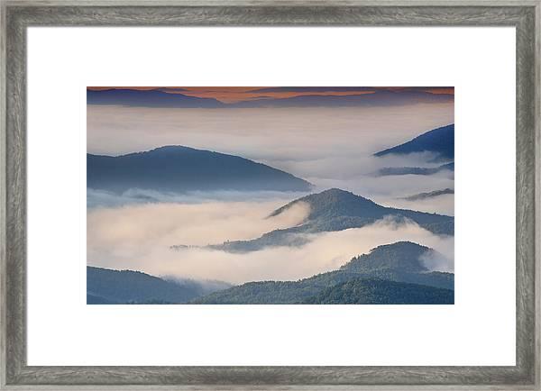 Morning Cloud Colors Framed Print