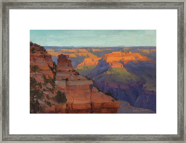 Morning Color - Yaki Point Framed Print