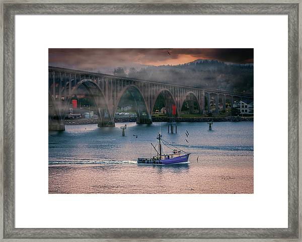 Morning Commute Framed Print