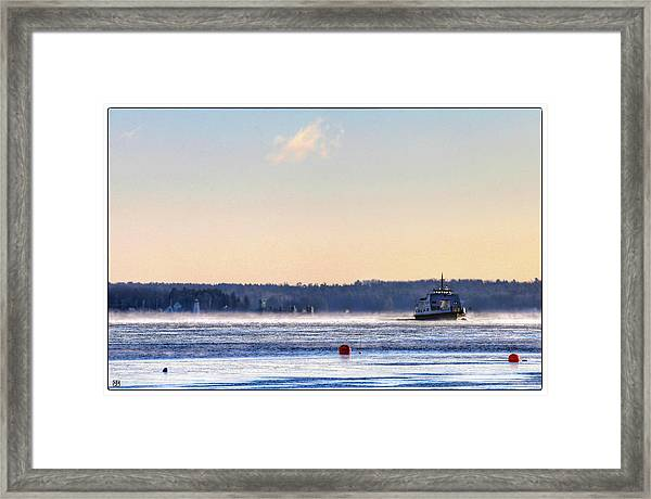 Morning Ferry Framed Print