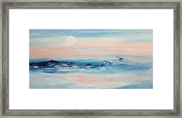 Morning Full Moon Framed Print