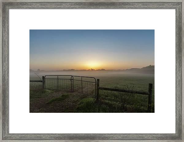 Morning Gate Framed Print