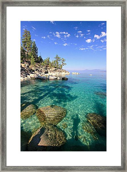 Morning Glory At The Cove Framed Print