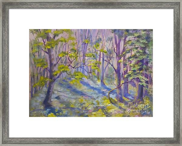 Framed Print featuring the painting Morning Glory by Genevieve Brown