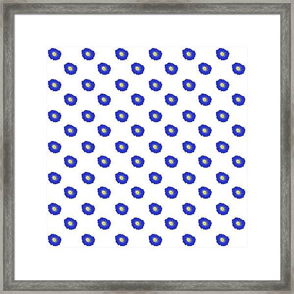 Morning Glory Pattern Framed Print