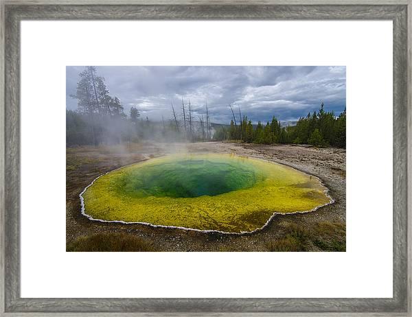 Morning Glory Pool Framed Print